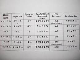 Card And Envelope Size Chart Cards Card Envelopes Card