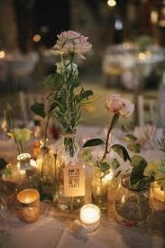 Candles Tea Lights Flowers Jars Stylish Pastel Rustic Barn Wedding Helenrussellphotography