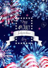 4th Of July American Independence Day Celebration Flyer Banner