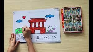Hướng dẫn tô màu lăng Bác Hồ dành cho trẻ Mầm non (Cô giáo Xuyên) - YouTube