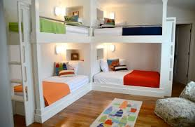 View in gallery Beach style kids' bedroom with twin bunk beds