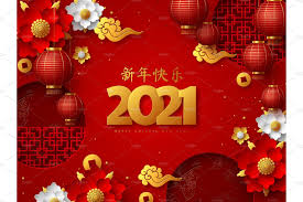 Coming year 2021, also refers to the 'year of ox' or 'year of the bull'. Happy Chinese New Year 2021 Pre Designed Illustrator Graphics Creative Market