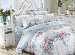 high quality gracious colorful flowers print 4 pieces summer bedding sets
