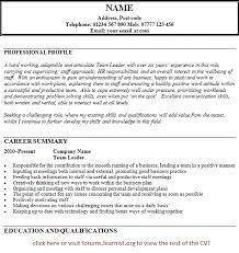 ... Team Leader Resume 15 ...