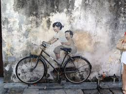 wall art kids on bicycle george town malaysia magnificent wall painting of kids on famous wall art in penang with wall art kids on bicycle george town malaysia magnificent wall