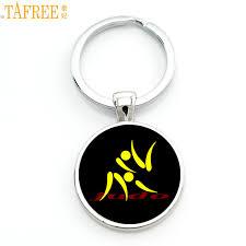 <b>TAFREE</b> Brand simple design Judo Karate sports keychain <b>high</b> ...