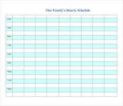 Week Hourly Calendar Hourly Schedule Template 34 Free Word Excel Pdf Format