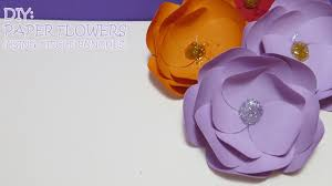 Paper Flower Punches Diy Paper Flowers Using Circle Punches Youtube