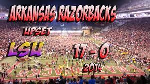ARKANSAS VS LSU - 2014 - 17 - 0 UPSET ...
