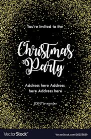 Party Rsvp Template Christmas Party Invitation Card Template Black