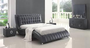 black bedroom furniture sets. Amazing Modern Bedroom Sets Flora Black Leather Set Furniture R