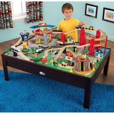Kidkraft Coat Rack KidKraft Kids Wooden Train Table and Airport Express Train Set with 47