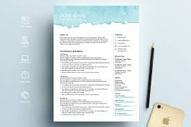 where is the resume template in word resume template word blue watercolor