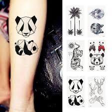 Geometrie Vodotěsná Dočasná Tetovací Samolepka Unisex Minimalistická Linie Vzor Body Art Nový Design Fake Tattoo Tatouage Temporair At Vova