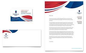 Letterhead Designs Templates Business Card Bank Bank Business Card Letterhead Template Design