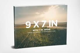 jacket and iphone 6 mockup 9 x 7 landscape paperback book mockup