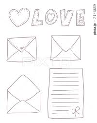 レターセット 手紙 可愛い ファンシーのイラスト素材 Pixta