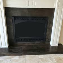 elegant brown leather granite install fireplace stone concepts omaha