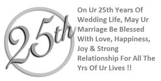 25th Anniversary Quotes Delectable Wedding Anniversary Messages Wishes And Quotes