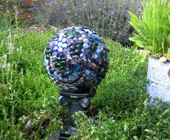 Decorated Bowling Balls A place for the bowling ball garden orb Garden Art Pinterest 1