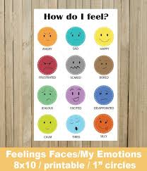 Feelings Charts Emotions Activity Emotional Development Download 1 Inch Learning Emotions