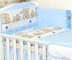 3 pcs baby bedding set to fit cot 120x60 or cotbed 140x70cm mattres size