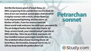 petrarchan sonnet rhyme scheme format