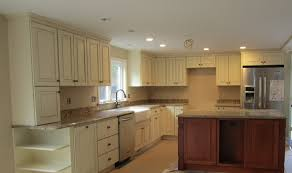 Kitchen Cabinets To Ceiling teak finish kitchen cabinets and white polished wood pictures 2545 by xevi.us