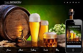 Free Website Templates Html Best Brewery Food And Drinks Mobile Website Template By W48layouts