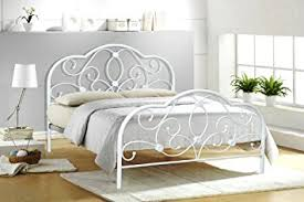 4FT6 DOUBLE WHITE METAL BED FRAME ALEXIS Amazon Kitchen & Home