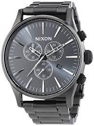 amazon com nixon sentry chronograph all gunmetal mens watch nixon sentry chronograph all gunmetal mens watch a386632