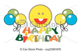 Happy Birthday Balloons Banner Happy Birthday Balloons Banner With Smiley Vector Illustration