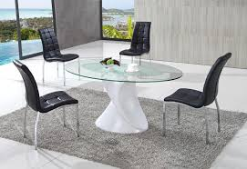 round smoked glass dining table posts