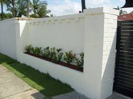 brick fence concrete fence wall