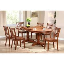 Oval Kitchen Table And Chairs Iconic Furniture 7 Piece Oval Dining Table Set Cinnamon Dining