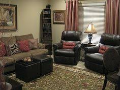 Living Room Layout 2 Sofas 2 recliners 1 BIG ottoman Use glass
