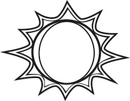 Sun Template Printable Sun Black And White Black And White Sun Clipart Free