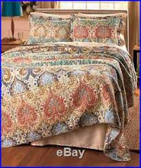 King Size Bed Handcrafted Giselle 3-Pc Quilt Blanket & Pillow ... & King Size Bed Handcrafted Giselle 3-Pc Quilt Blanket & Pillow Shams Bedding  Set Adamdwight.com