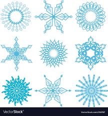 Snowflake Designs Royalty Free Vector Image Vectorstock