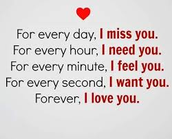 Miss You And Love You Quotes Impressive Forever I Love You Every Day Never I Miss You Short Quotes About