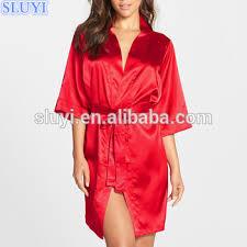 plus size silk robe red satin robe bride bridesmaid robe for wedding sexy women silk