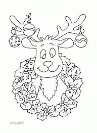 Kleurplaat Kerst Rendier Kerst Puzzels En Kleurplaten Pinterest