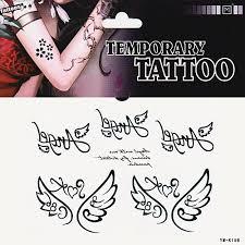 1ks Andělská Křídla Láska Anděl Písmena Tetování Samolepky Dočasné Tetování
