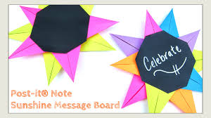 paper crafts diy post it note crafts sunshine message board you