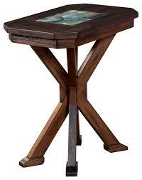 savanah coffee table with slate inlay southwestern