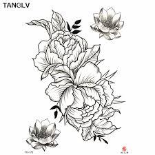 1 шт временная татуировка стикер черные розы дизайн полный цветок рука боди арт