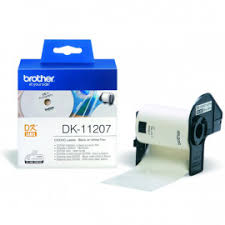 BROTHER DK11207 <b>наклейки на CD/DVD</b> (диаметр 58 мм) 100 ...