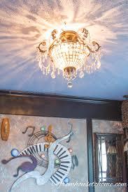 the original chandelier diy lace ceiling medallion
