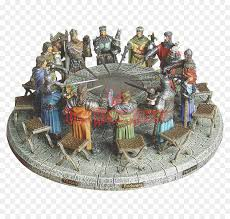 king arthur knight round table miniature figurine png