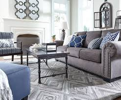 simple decoration grey and blue living room incredible